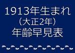 1913年生まれ年齢早見表