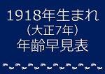 1918年生まれ年齢早見表