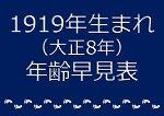 1919年生まれ年齢早見表