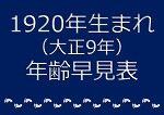 1920年生まれ年齢早見表
