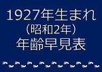 1927年生まれ年齢早見表