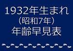 1932年生まれ年齢早見表