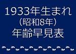 1933年生まれ年齢早見表