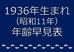 1936年生まれ年齢早見表