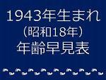 1943年生まれ年齢早見表