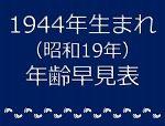 1944年生まれ年齢早見表