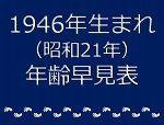 1946年生まれ年齢早見表