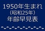 1950年生まれ年齢早見表