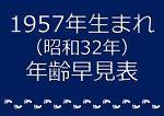 1957年生まれ年齢早見表
