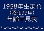 1958年生まれ年齢早見表