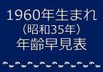 1960年生まれ年齢早見表