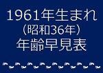 1961年生まれ年齢早見表