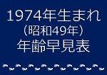 1974年生まれ年齢早見表