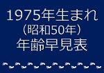 1975年生まれ年齢早見表