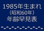 1985年生まれ年齢早見表
