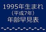 1995年生まれ年齢早見表