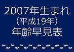 2007年生まれ年齢早見表